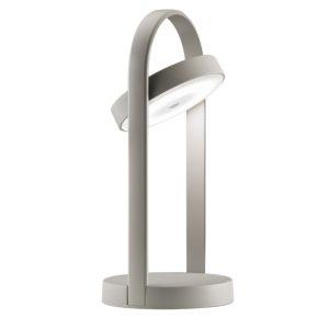 Stříbrná kovová bezdrátová stolní LED lampa Pedrali Giravolta 33 cm - Výška12
