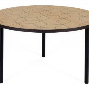Dubový kulatý konferenční stolek Woodman Arty II. s kovovou podnoží 70 cm - Výška40 cm- Deska move Dubová Dýha