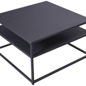 Moebel Living Černý kovový konferenční stolek Durma 70 x 70 cm - Šířka70 cm- Výška 40 cm