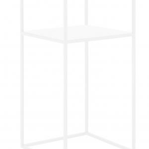 Nordic Design Bílý kovový odkládací stolek Moreno 30 x 30 cm - Výška60 cm- Hloubka 30 cm