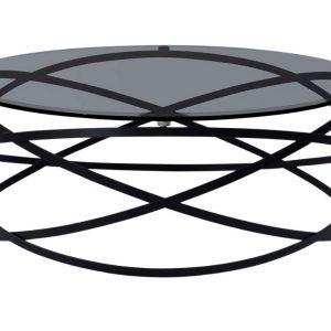 Černý kulatý kovový konferenční stolek Miotto Paola 95 cm - Výška32