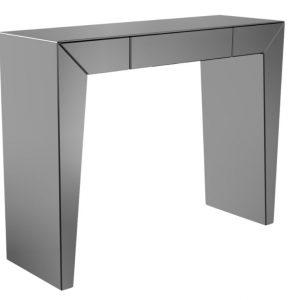 Černý zrcadlový toaletní stolek Miotto Meana 110 x 36 cm - Šířka110 cm- Hloubka 36 cm