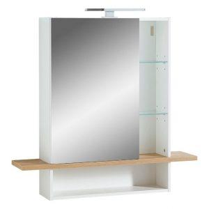 Bílá zrcadlová skříňka Germania Novolino 1436 90 x 25 cm - Výška91 cm- Šířka 90 cm