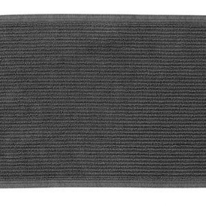 Antracitově šedá bavlněná koupelnová předložka LaForma Miekki 40 x 60 cm - Výška1 cm- Šířka 40 cm