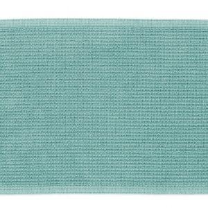 Tyrkysová bavlněná koupelnová předložka LaForma Miekki 40 x 60 cm - Výška1 cm- Šířka 40 cm
