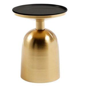 Zlatý kovový kulatý odkládací stolek LaForma Physic 38 cm - Výška45 cm- Šířka 38 cm