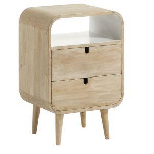 Mangový noční stolek LaForma Gerald 40 x 30 cm - Šířka40 cm- Hloubka 30 cm