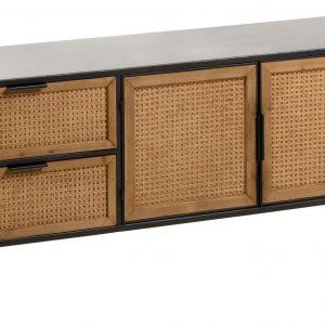 Černý kovový TV stolek LaForma Kyoko 150 x 40 cm - Výška55 cm- Korpus move Kov