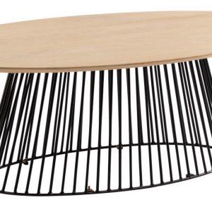 Mangový oválný konferenční stolek LaForma Leska 120 x 65 cm - Výška40 cm- Deska move Mangové dřevo