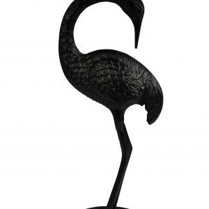 Černý kulatý odkládací stolek DUTCHBONE Crane 40 cm - Výška63 cm- Průměr 40 cm
