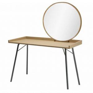 Dubový toaletní stolek Woodman Rayburn I. s kovovou podnoží 115 x 52 cm - Šířka115 cm- Deska move Dubová dýha