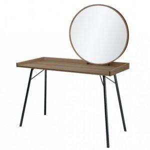 Ořechový toaletní stolek Woodman Rayburn s kovovou podnoží 115 x 52 cm - Šířka115 cm- Deska move Ořechová dýha