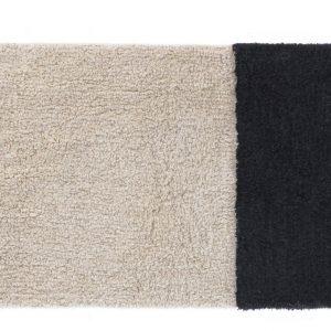 Béžovo černá bavlněná koupelnová předložka LaForma Maica 40 x 60 cm - Výška1 cm- Šířka 40 cm