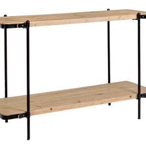 Dřevěný toaletní stolek Bizzotto Jerrod 122 x 43 cm - Podnož moveČerně lakovaný kov- Konstrukce move Černě lakovaný kov