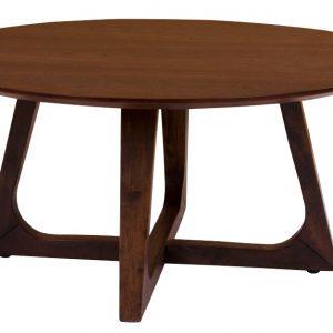 Nordic Living Ořechový konferenční stolek Taby 75 cm - Výška36 cm- Deska move Ořechová dýha