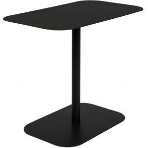 Černý kovový odkládací stolek ZUIVER SNOW RECTANGLE 50x30 cm - Šířka50 cm- Max. nosnost move 15 kg