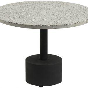 Šedý terrazzo odkládací stolek LaForma Melano 55 cm - Výška40 cm- Šířka move 55 cm