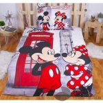 Bavlněné povlečení 140x200 70x90 Mickey & Minnie in London Telephone - -