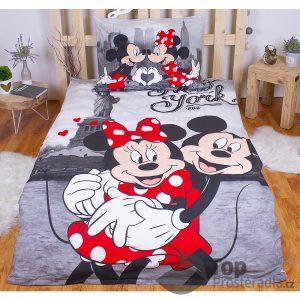 Bavlněné povlečení 140x200 70x90 Mickey & Minnie v NY - -