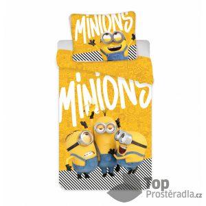 TOP Bavlněné povlečení 140x200+70x90 Mimoni 2 Yellow - -