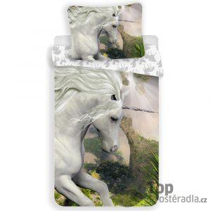 TOP Bavlněné povlečení 140x200+70x90 White Unicorn - -