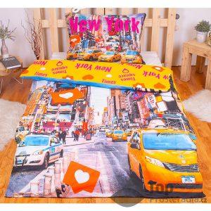 TOP Bavlněné povlečení Times Square 140x200+70x90 - -