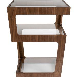Skleněný odkládací stolek DUTCHBONE Glavo 43 x 43 cm - Tloušťka desky move5 mm- Max. nosnost move 20 kg