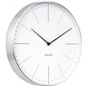 Time for home Bílo stříbrné kulaté nástěnné hodiny Honk II - Průměr37