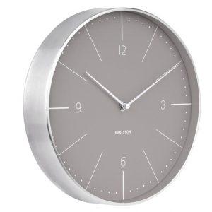 Time for home Šedo stříbrné kulaté nástěnné hodiny Honk - Průměr27