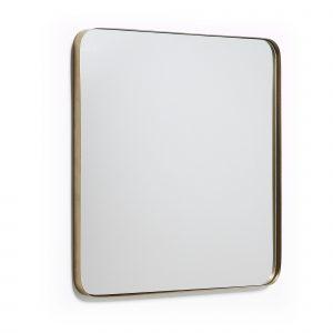 Zlaté kovové nástěnné zrcadlo LaForma Marcus 60 x 60 cm - Šířka move60 cm- Zrcadlo move Sklo