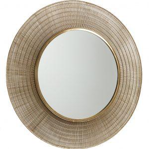 Kulaté mosazné zrcadlo LaForma Plax 80 cm - Průměr move80 cm- Rám move Mosazný kov