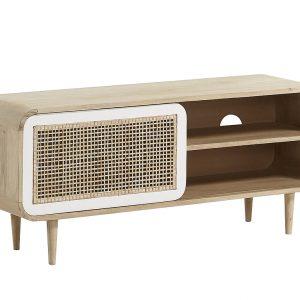 Masivní mangový TV stolek LaForma Gerald 120 x 40 cm - Výška50 cm- Šířka 120 cm