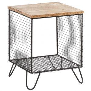 Černý kovový noční stolek LaForma Interni 38