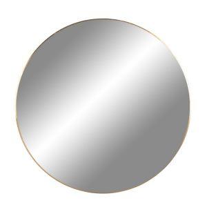 Nordic Living Zlaté kulaté závěsné zrcadlo Vincent 80 cm - Rám moveLakovaná ocel- Zrcadlo move Sklo