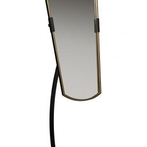 Hoorns Černé kovové stojací zrcadlo June 166 cm - Výška166 cm- Šířka move 48 cm