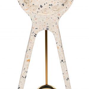 Růžové terrazzo stolní hodiny ZUIVER PENDULUM - Hloubka move6 cm- Baterie move 1 x AA