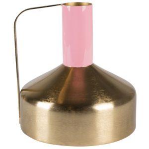 Zlato růžová kovová váza Bold Monkey Call The Spirit - Výška21 cm- Průměr move 21 cm