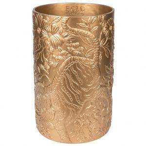 Zlatá váza Bold Monkey Songs Of The Night Tiger - Výška39 cm- Průměr move 25 cm