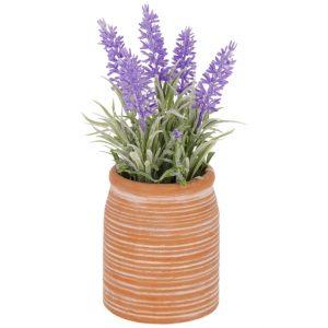 Umělá květina LaForma Lavender S - Výška22 cm- Průměr 13 cm