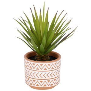 Umělá květina LaForma Palm S - Výška13 cm- Průměr 18 cm