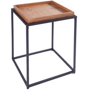 Moebel Living Dubový odkládací stolek Estico 40 x 40 cm - Šířka40 cm- Deska move Dubová dýha