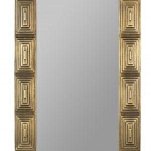 Zlaté kovové závěsné zrcadlo DUTCHBONE VOLAN 110 x 70 cm - Výška110 cm- Šířka 70 cm