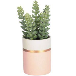 Umělá květina LaForma Sedum lucidum L - Výška19 cm- Průměr 10 cm