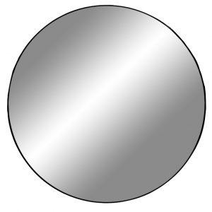 Nordic Living Černé kulaté závěsné zrcadlo Vincent 60 cm - Průměr60 cm- Hloubka move 0