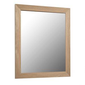 Přírodní dřevěné nástěnné zrcadlo LaForma Nerina 47 x 57 cm - Výška57