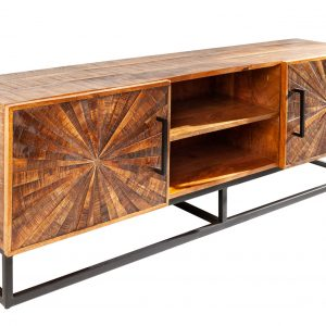 Moebel Living Masivní mangový TV stolek Hypnos 145 x 36 cm - Šířka145 cm- Výška 50 cm