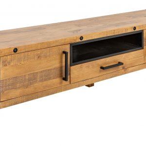 Moebel Living Masivní borovicový TV stolek Hogan 200 x 45 cm - Šířka200 cm- Výška 50 cm