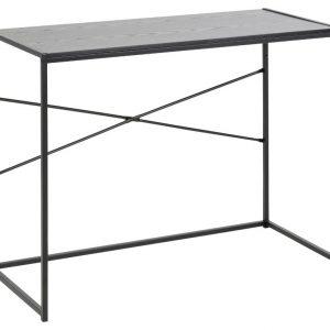 SCANDI Černý dřevěný toaletní stolek Darila 100 x 45 cm - Výška75 cm- Šířka 100 cm