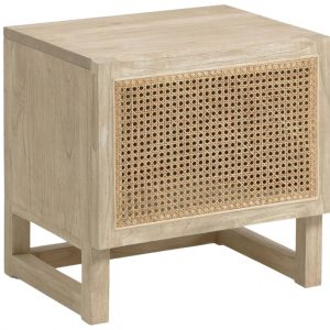Dřevěný noční stolek LaForma Rexit 50 x 41 cm - Výška50 cm- Šířka 50 cm