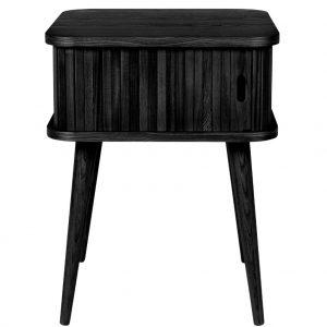 Černý dubový odkládací stolek ZUIVER BARBIER 45 x 45 cm - Výška59 cm- Šířka 45 cm